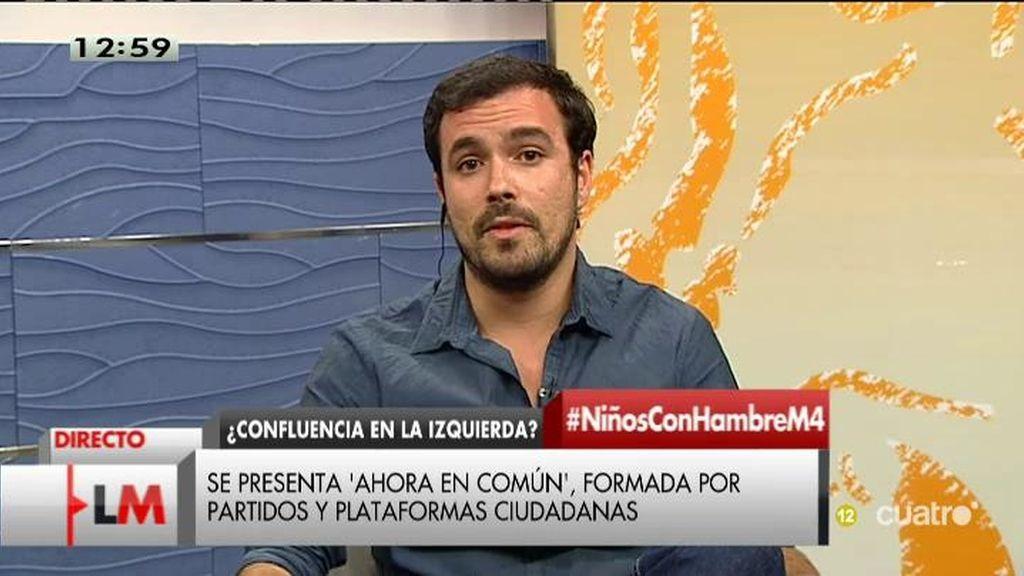 """Alberto Garzón: """"El protagonismo debe ser de los ciudadanos, no de las siglas"""""""
