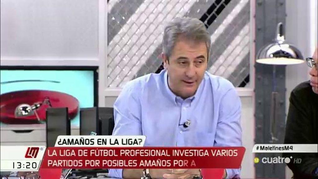 """Manolo Lama: """"Es imprudente por parte de Tebas insinuar amaños sin tener pruebas"""""""
