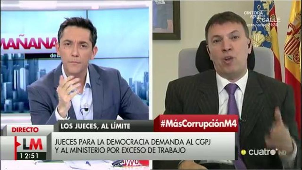 """Juez Bosch: """"Los juzgados no tienen instrumentos para perseguir la corrupción"""""""
