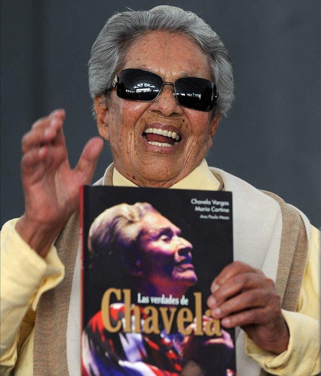 La cantante Chavela Vargas. EFE/Archivo