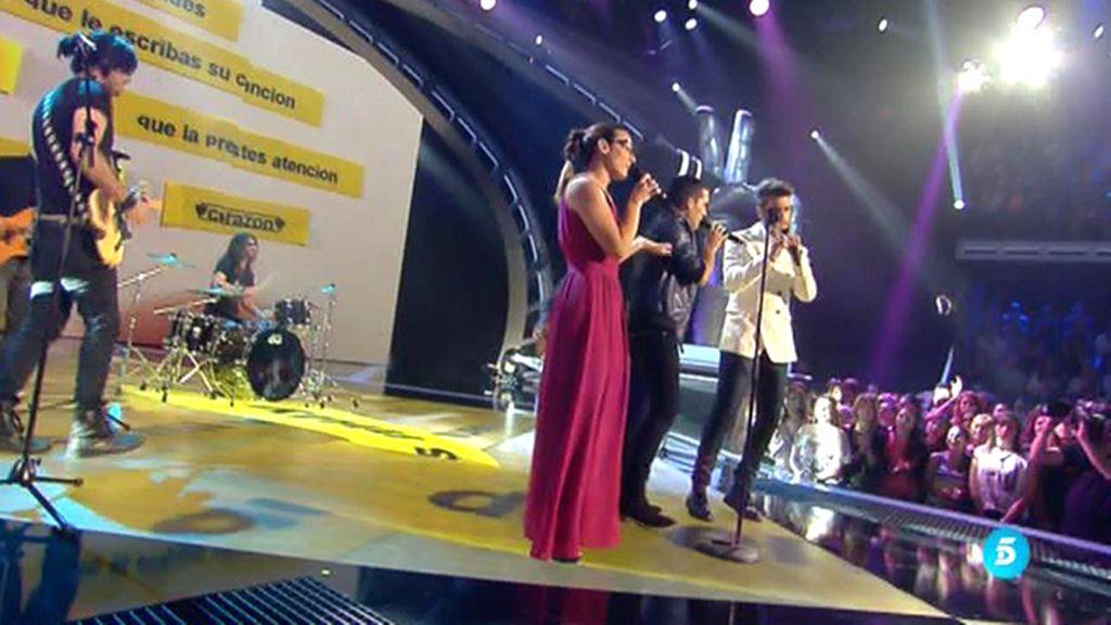 Raquel Garrido y Antonio José cantan en directo con 'Maldita Nerea'