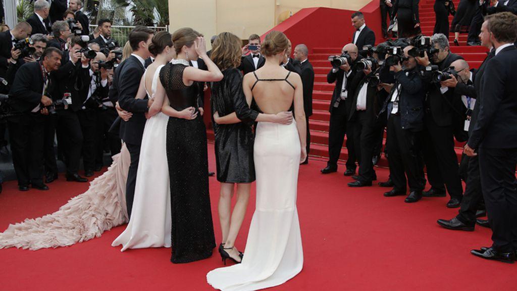 El elenco de 'Bling Ring' en la alfombra roja de Cannes