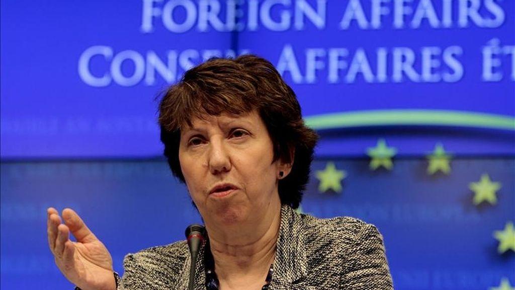 La británica Catherine Ashton, Alta Representante de la UE para Exteriores. EFE/Archivo
