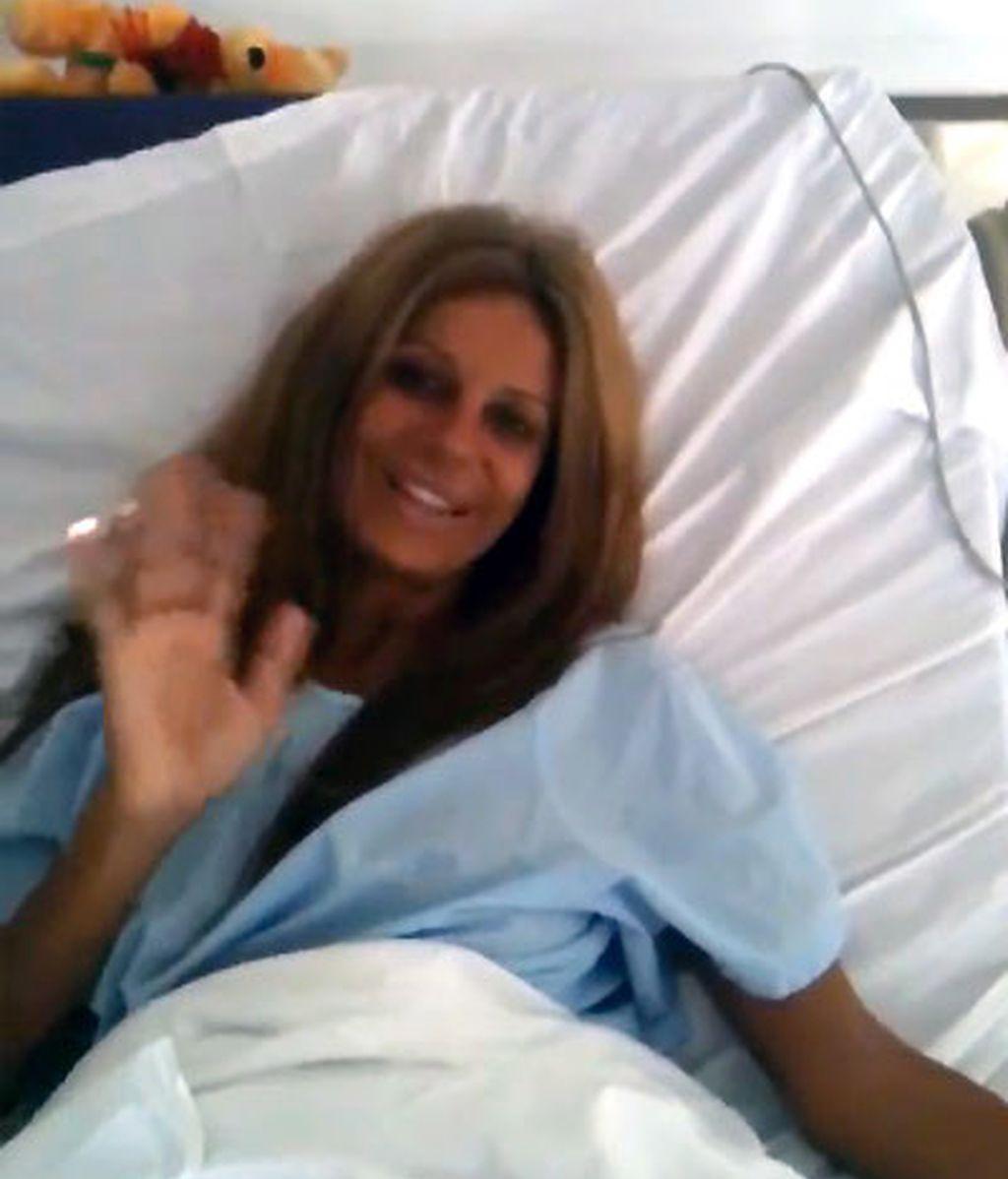Sonia, antes de entrar en el quirófano