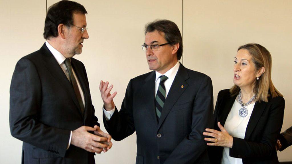 Rajoy se reencuentra con Mas en Cataluña