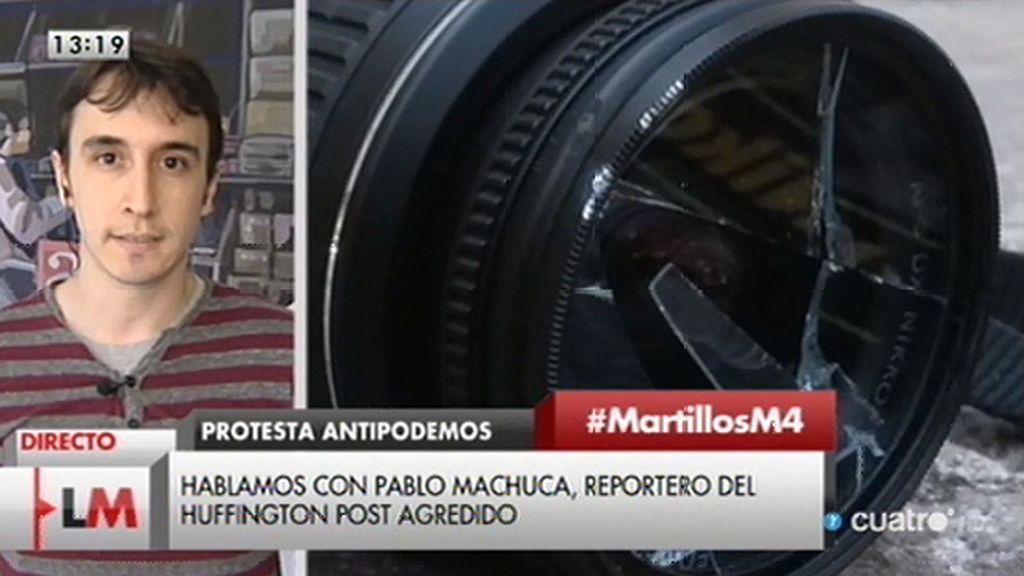 """Pablo Machuca, reportero del 'Huffington post': """"Me metí a hacer una fotografía y la cámara terminó en el suelo"""""""