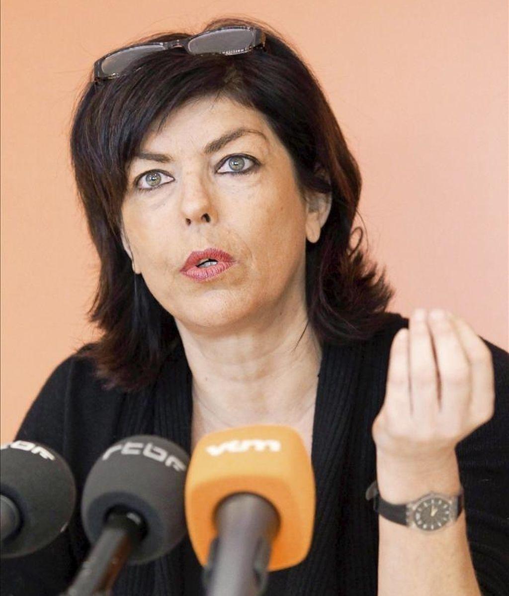 """La presidenta del CDH (democristiano francófono) y viceprimera ministra, Joëlle Milquet, dijo hoy que """"ha llegado el momento de que los principales partidos políticos de Bélgica vuelvan a sentarse a la mesa de negociación"""". EFE/Archivo"""