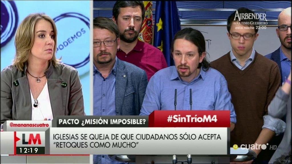 """Tania Sánchez, sobre Podemos: """"Lo que decidimos es dar el poder de decisión sobre las dos opciones realistas"""""""
