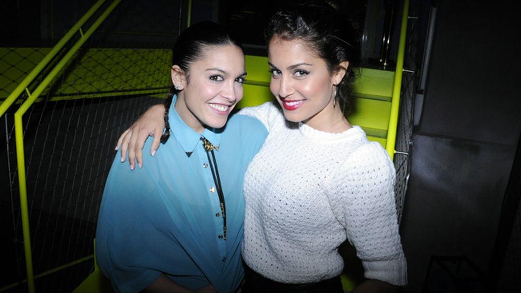 Lorena C e Hiba Abouk a su llegada a la fiesta de Reebok