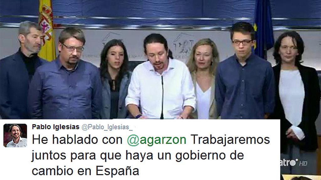 """Iglesias, de Garzón: """"Trabajaremos juntos para que haya un gobierno de cambio"""""""