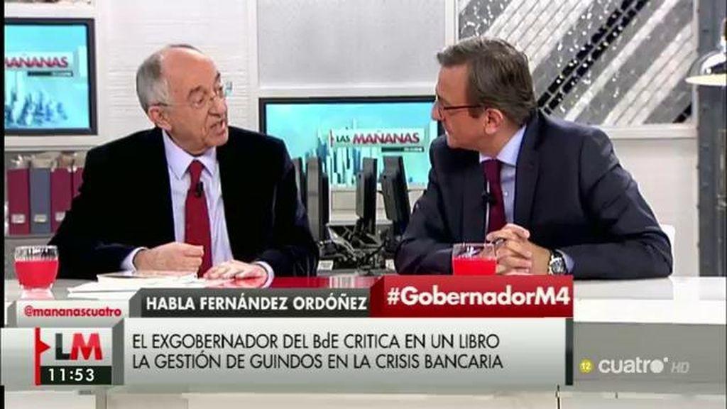 """M.A. Fernández Ordóñez, exgobernador del Banco de España: """"Dedicamos poco tiempo a las políticas"""""""
