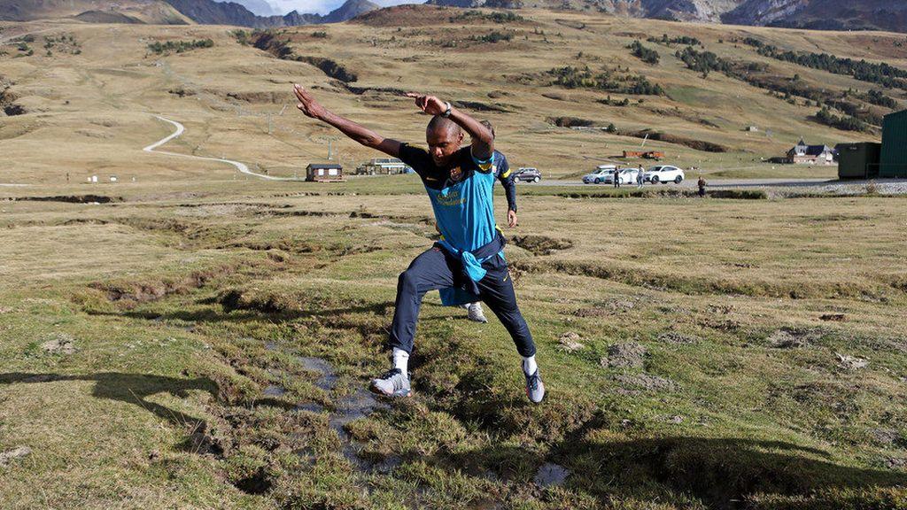 Abidal hace una parada en Val d'Aran para continuar con su trabajo de recuperación