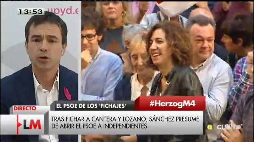 """A. Herzog: """"Pedro Sánchez sigue la línea de espectáculo y marketing de Zapatero"""""""