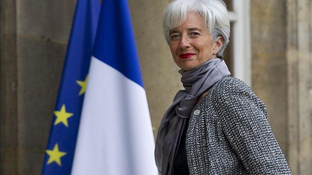 La ministra francesa de Finanzas, Christine Lagarde, llega al Palacio del Elíseo (sede de la Presidencia francesa), en París, Francia. EFE/Archivo