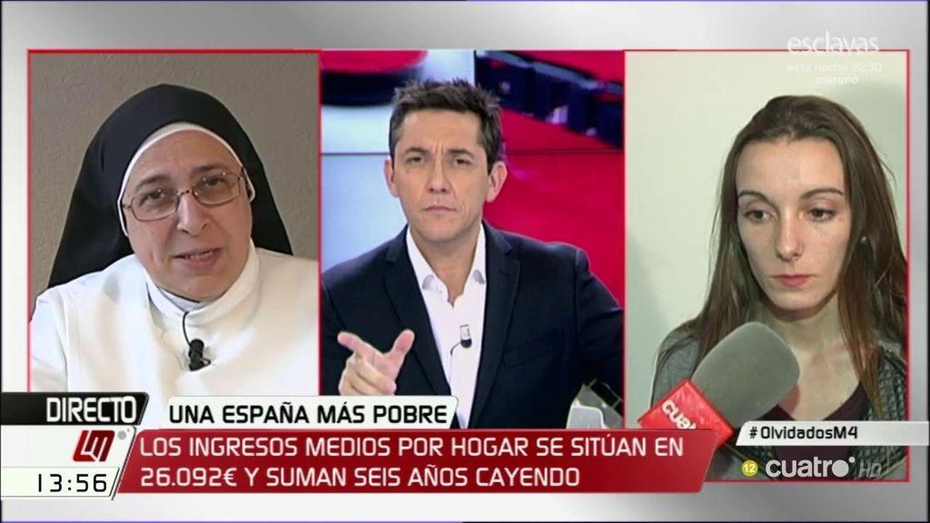 """Sor Lucía Caram: """"La recuperación es una ilusión de los que mandan"""""""