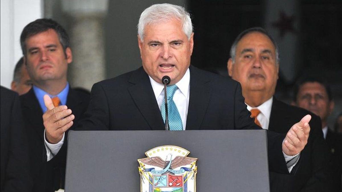 Martinelli ganó las elecciones con un 60 por ciento de los votos y asumió la Presidencia el 1 de julio de 2009, hace año y medio. EFE/Archivo