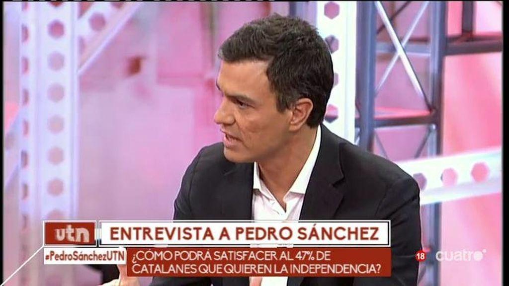 """Pedro Sánchez: """"Estoy radicalemente en contra de la independencia de Cataluña"""""""