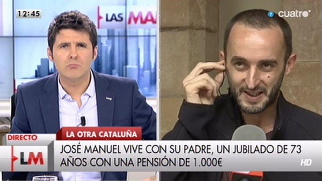 """José Manuel, sobre el 9N: """"No entiendo que los políticos hayan abierto ese debate cuando hay problemas más urgentes"""""""