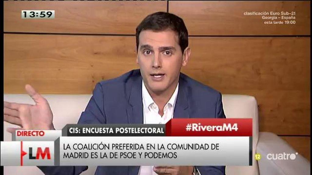 """Albert Rivera: """"Hay un paro tremendo, una corrupción insoportable… y estos señores se dedican a tirarse dardos"""""""