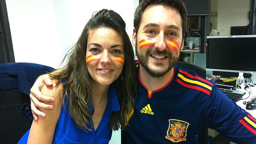 El equipo de la web de Mediaset, haciendo historia con 'La Roja'