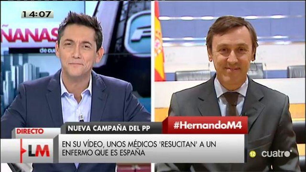 """Rafael Hernando: """"España era el enfermo de Europa y la cosa ha cambiado a mejor"""""""
