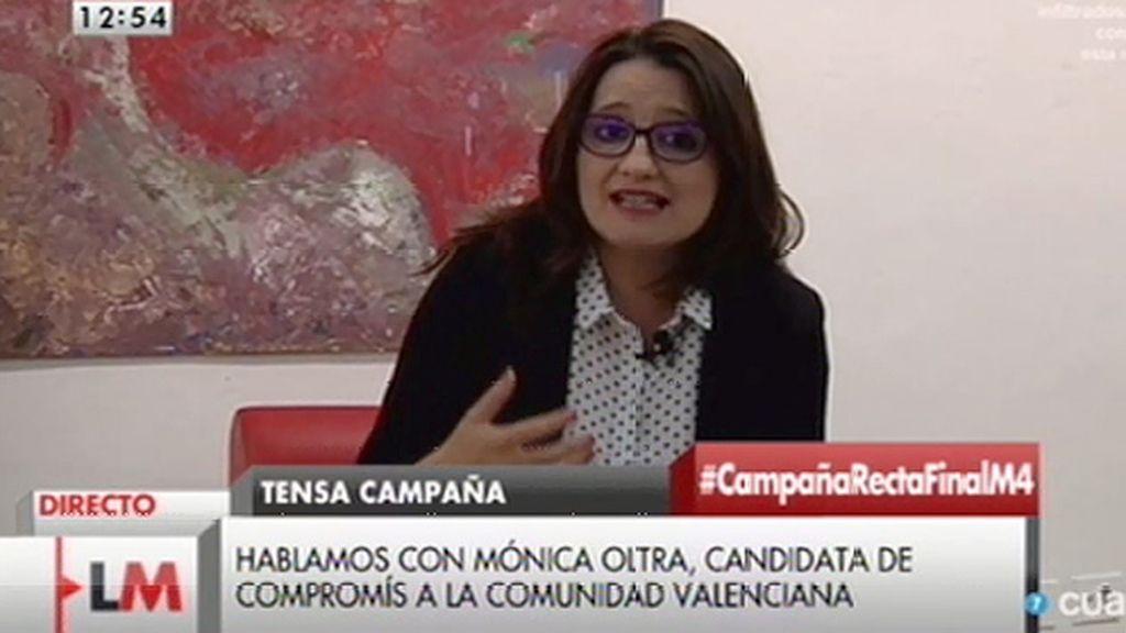 """Mónica Oltra: """"Lo que le molesta a Rita Barberá es que destapáramos que se gasta 700€ en una noche de hotel"""""""