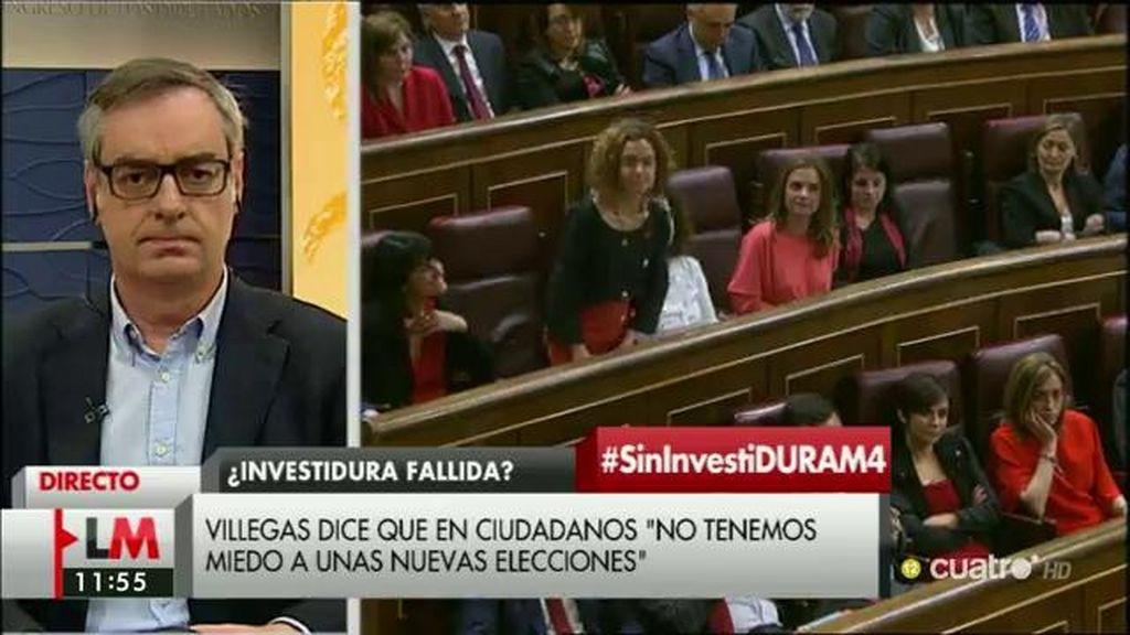 """José Manuel Villegas: """"Si no hay gobierno el viernes, seguiremos trabajando pero con el acuerdo como base"""""""
