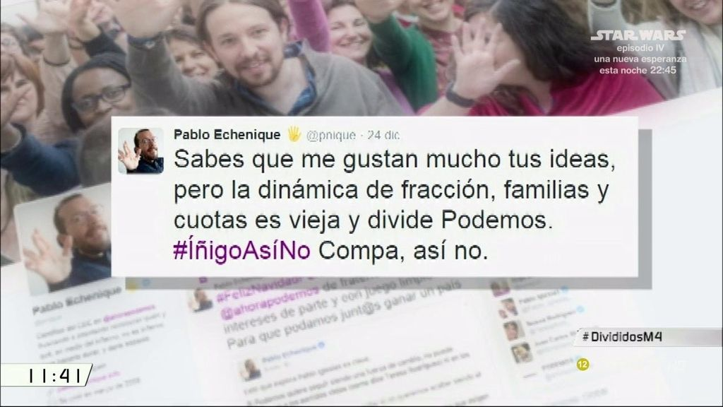 #ÍñigoAsíNo, el hashtag que divide a Podemos