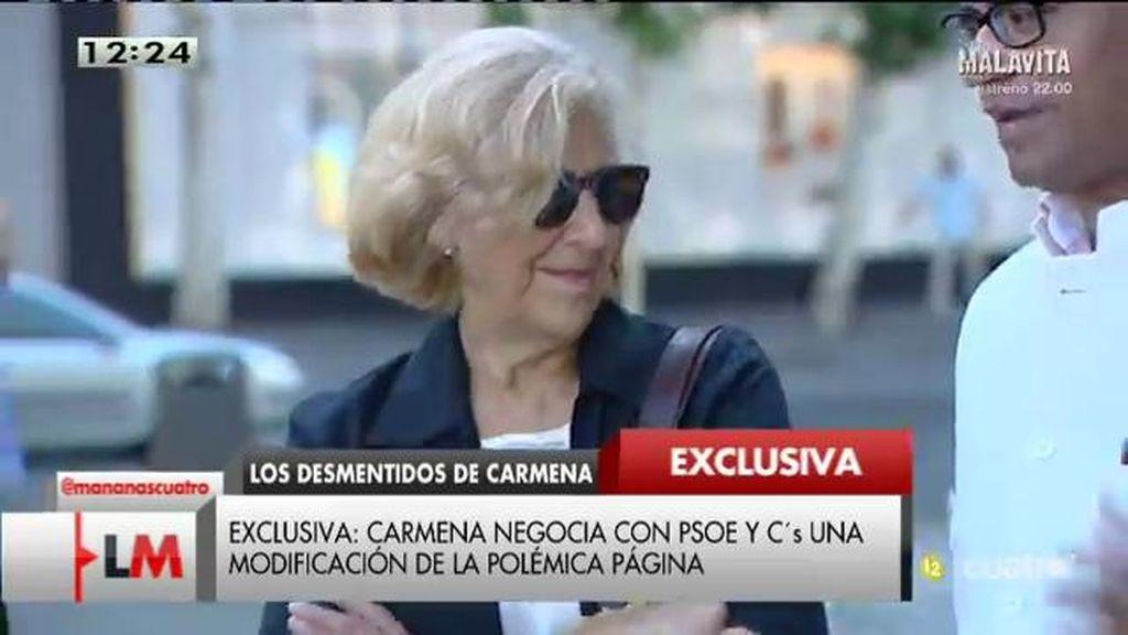 Exclusiva: Carmena negocia con PSOE y Ciudadanos modificar 'Versión Original'