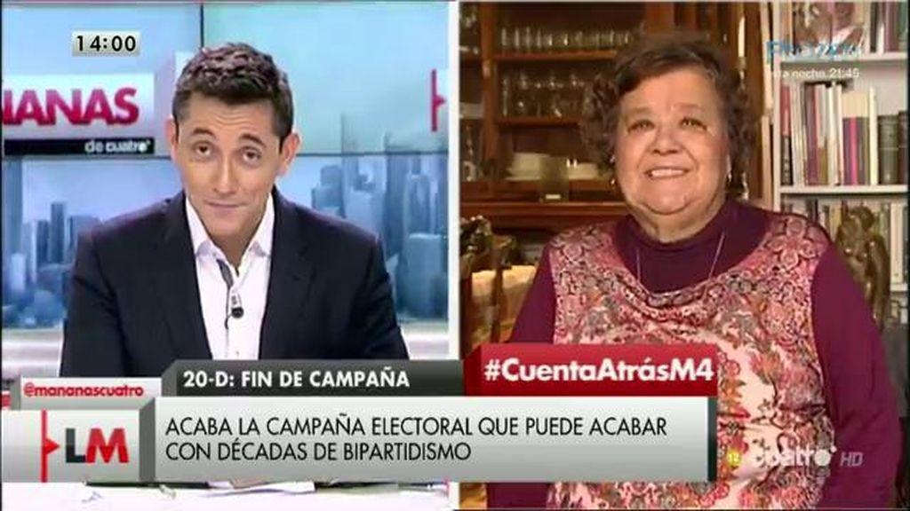 """Cristina Almeida: """"La corrupción ha provocado una revuelta en la sociedad"""""""