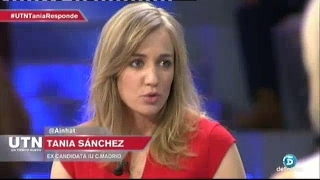 """Tania Sánchez: """"No me van a imputar porque sé que no hay caso"""""""