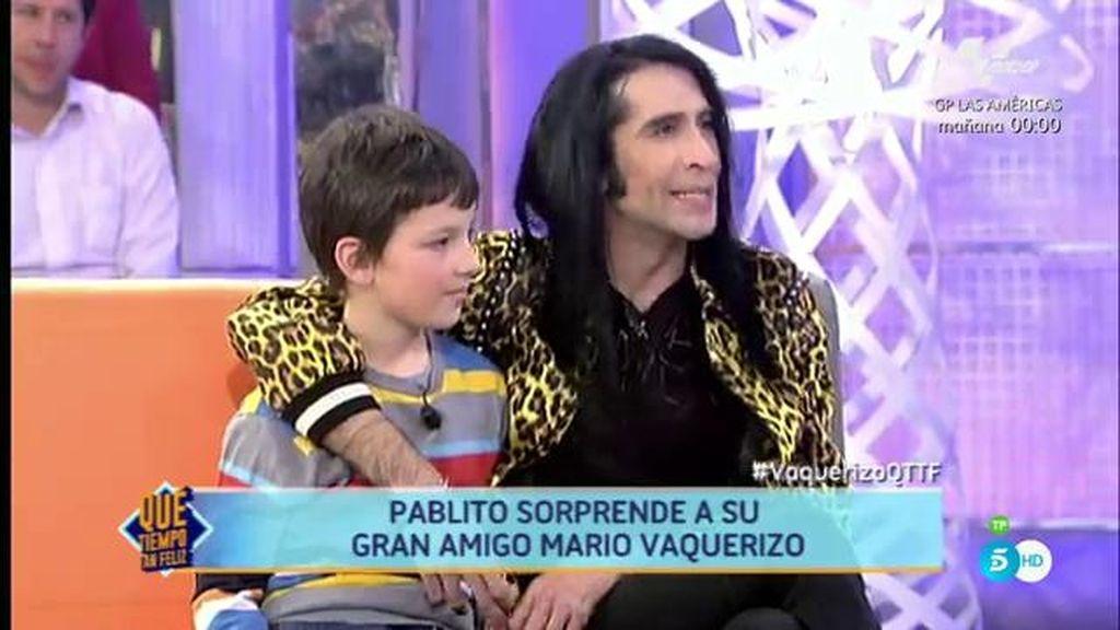 """Pablito sorprende a Mario Vaquerizo: """"Este niño significa mucho para mí"""""""