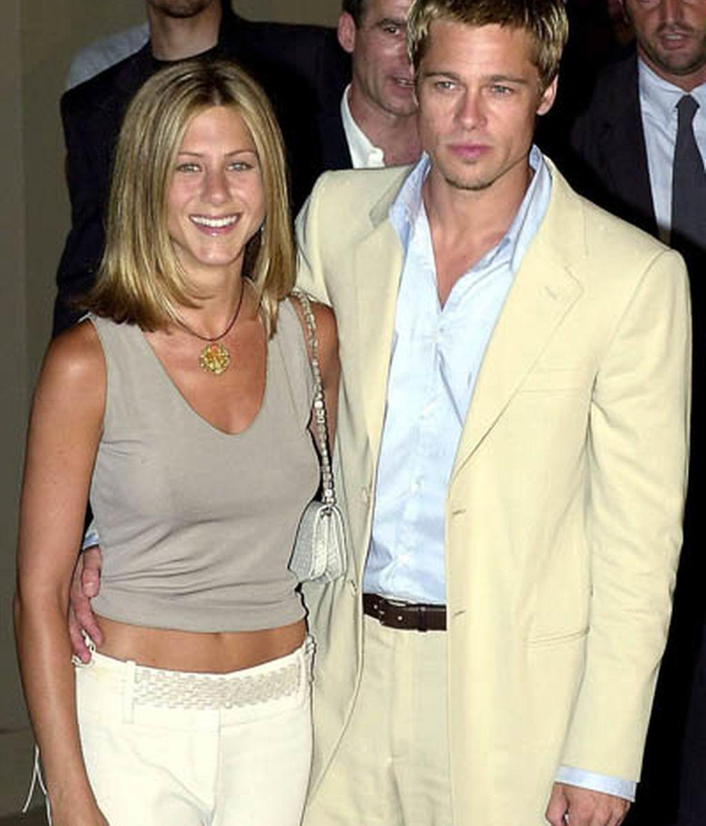 Con Brad Pitt a los 33 años