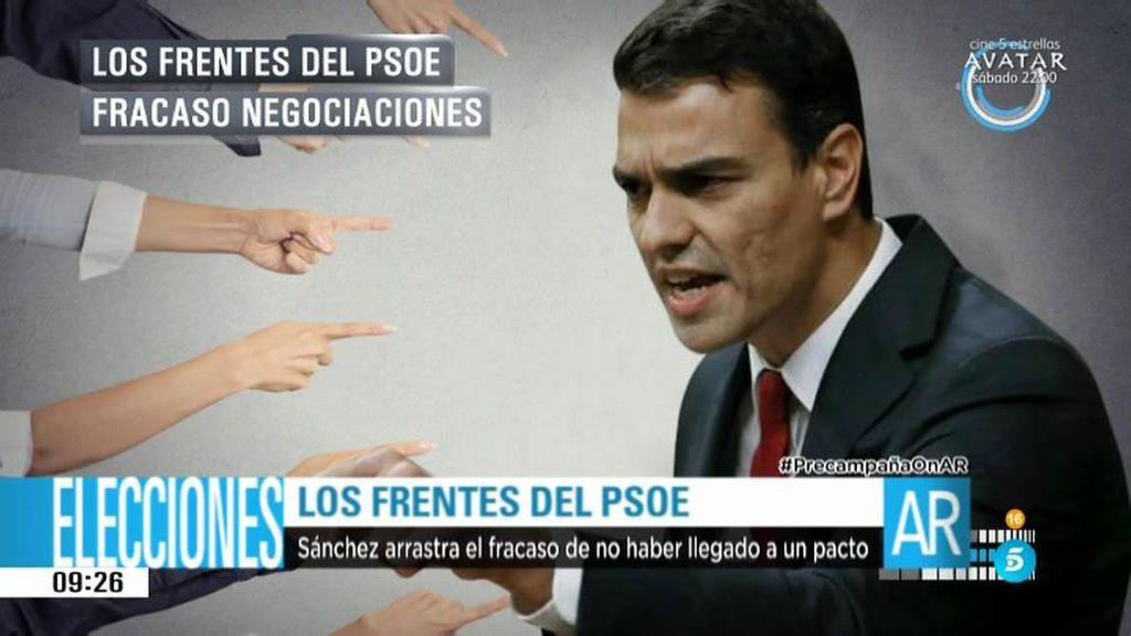 Los frentes abiertos del PSOE