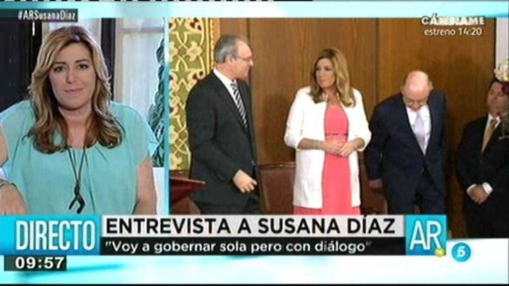 """Susana Díaz: """"Voy a gobernar sola pero con diálogo"""""""