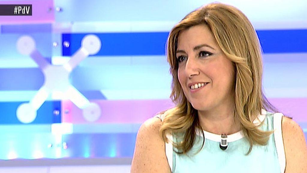 """Susana Díaz: """"He puesto a disposición de Pedro Sánchez la federación andaluza pero no le he exigido nada"""""""