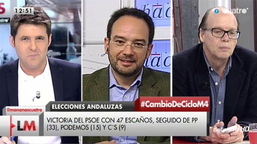 """Antonio Hernando responde a Villalobos: """"Sus declaraciones son ridículas"""""""