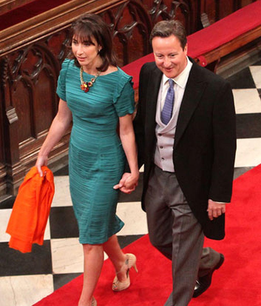 David Cameron y su esposa Samantha