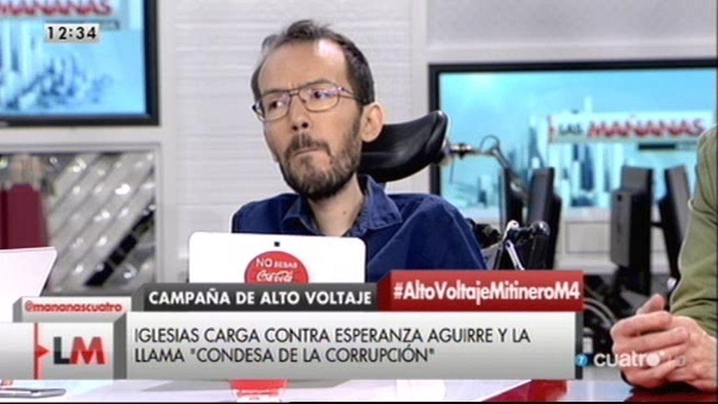 """Echenique: """"La diferencia es que cuando se nos llama nazis es mentira y cuando decimos que Aguirre es corrupta es verdad"""""""