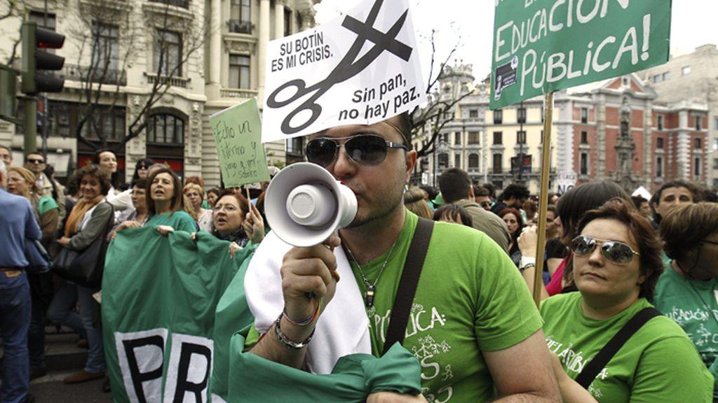 Manifestación en Madrid contra la Ley Wert