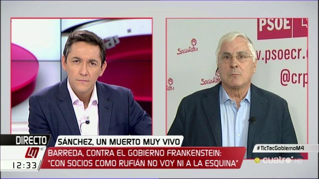 """Barreda: """"Creo que Sánchez está invalidado para volver a ser secretario general"""""""