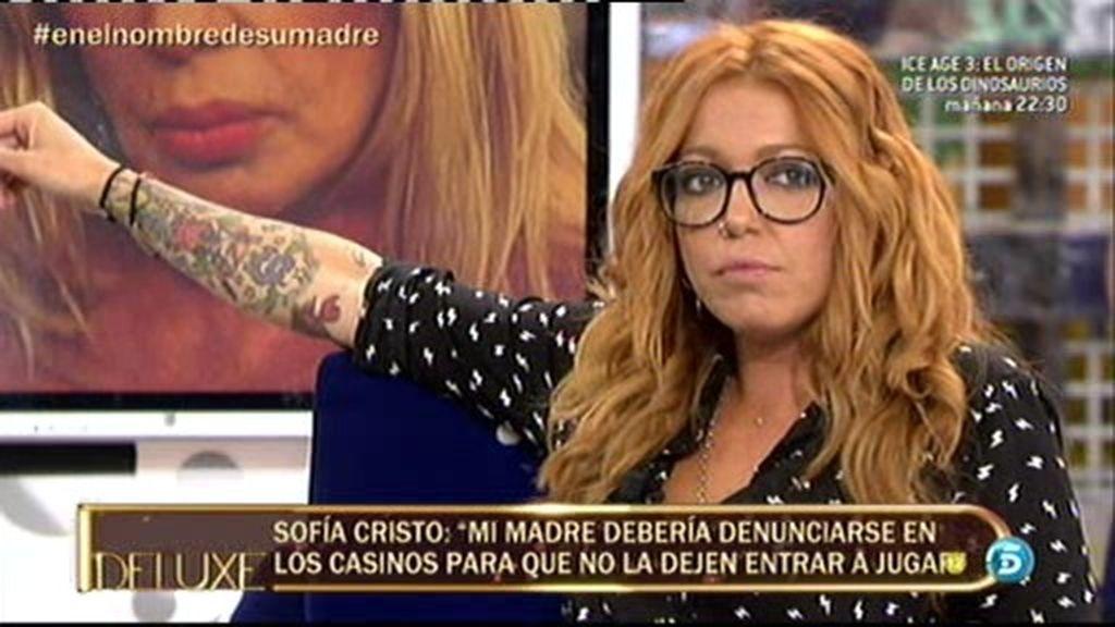 """Sofía Cristo: """"Mi madre está yendo a terapia para superar su adicción al juego"""""""