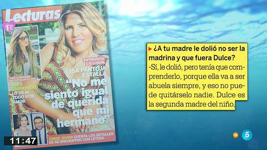 """Chabelita: """"Me gustaría que mi madre saliera de Cantora y viviera conmigo"""""""
