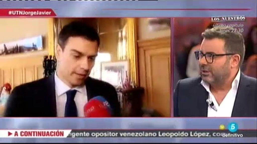 """Jorge Javier: """"Pedro Sánchez porque tiene ideas con las que me siento identificado"""""""