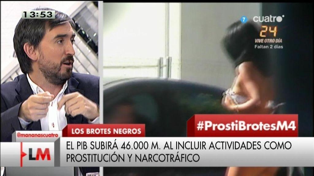 La prostitución y las drogas engordarán hasta un 3% la cifra del PIB
