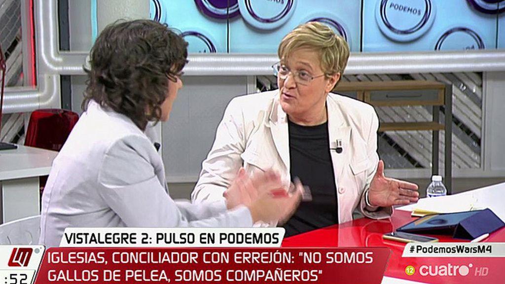 """A. Álvarez, a T. González: """"Cuando el debate es de mi partido estoy dialogando, cuando es el otro tienen una crisis"""""""