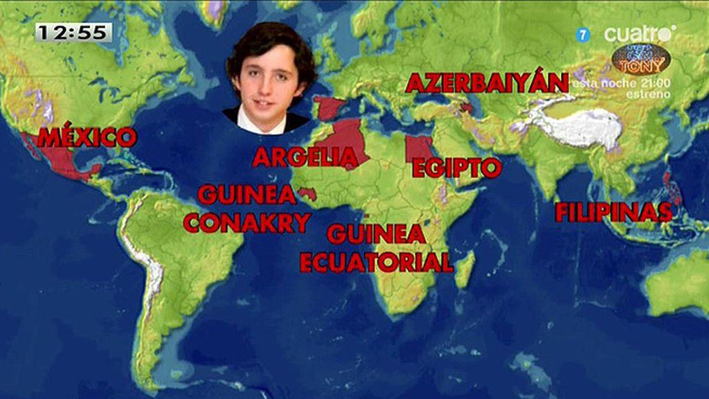 El mapamundi del pequeño Nicolás