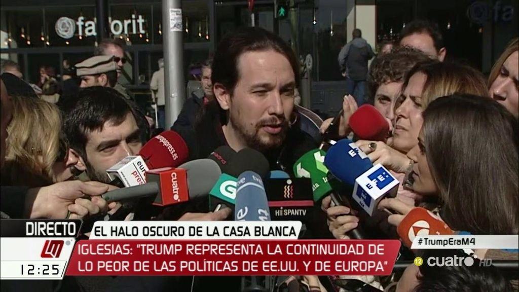 """Pablo Iglesias: """"Hay que ser muy falaz y malintencionado para vincularnos con Trump"""""""