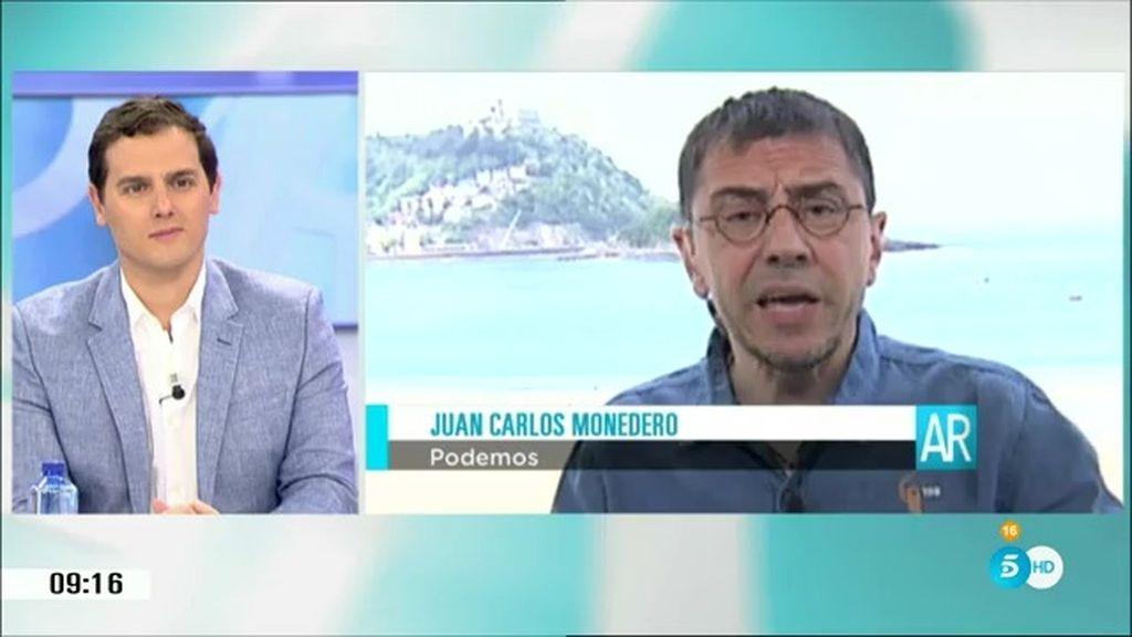 "Monedero, sobre Rivera: ""Ha ido a Venezuela a intentar barrer algunos votos"""