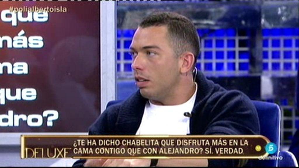 Chabelita le dijo a Alberto Isla que disfrutaba más con él que con Alejandro